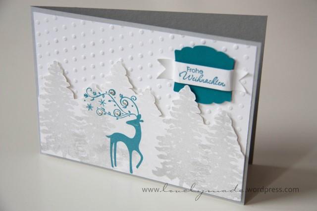 Weihnachtskarte mit Dasher
