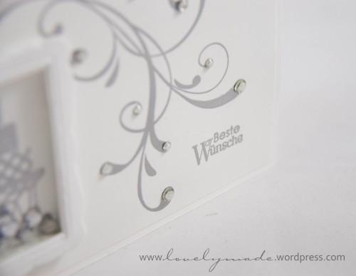 hochzeitskarte mit sch ttelfenster in wei silber od. Black Bedroom Furniture Sets. Home Design Ideas