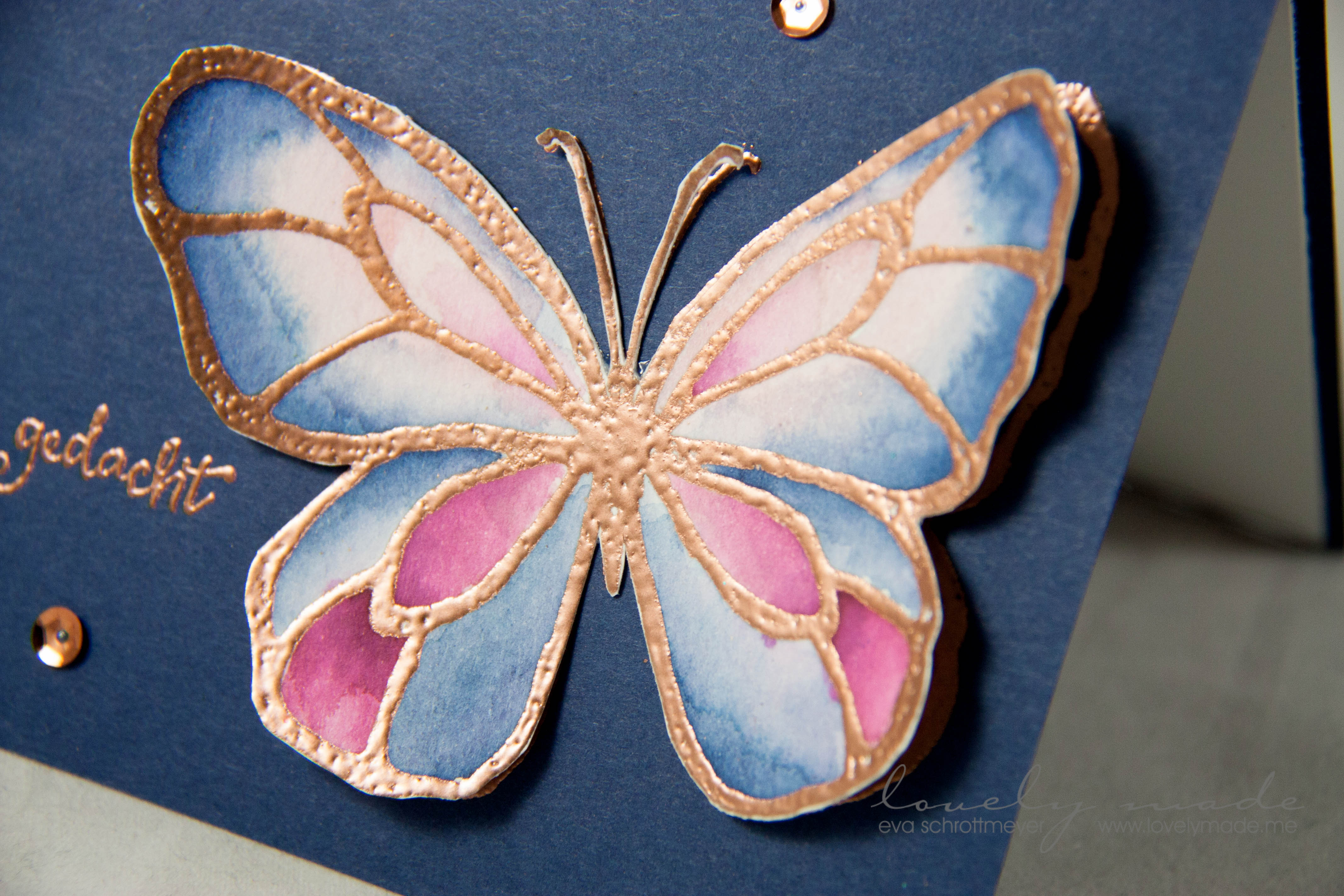 Simple Karte mit Aquarell-Schmetterling | lovelymade